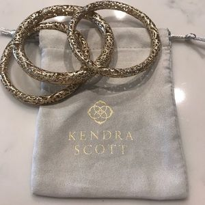 Kendra Scott Lucca Bangle set.